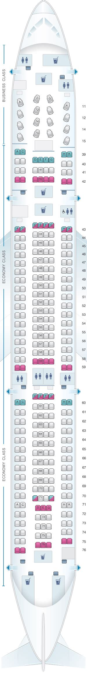 Seat Map Cathay Pacific Airways Airbus A330 300 (33P
